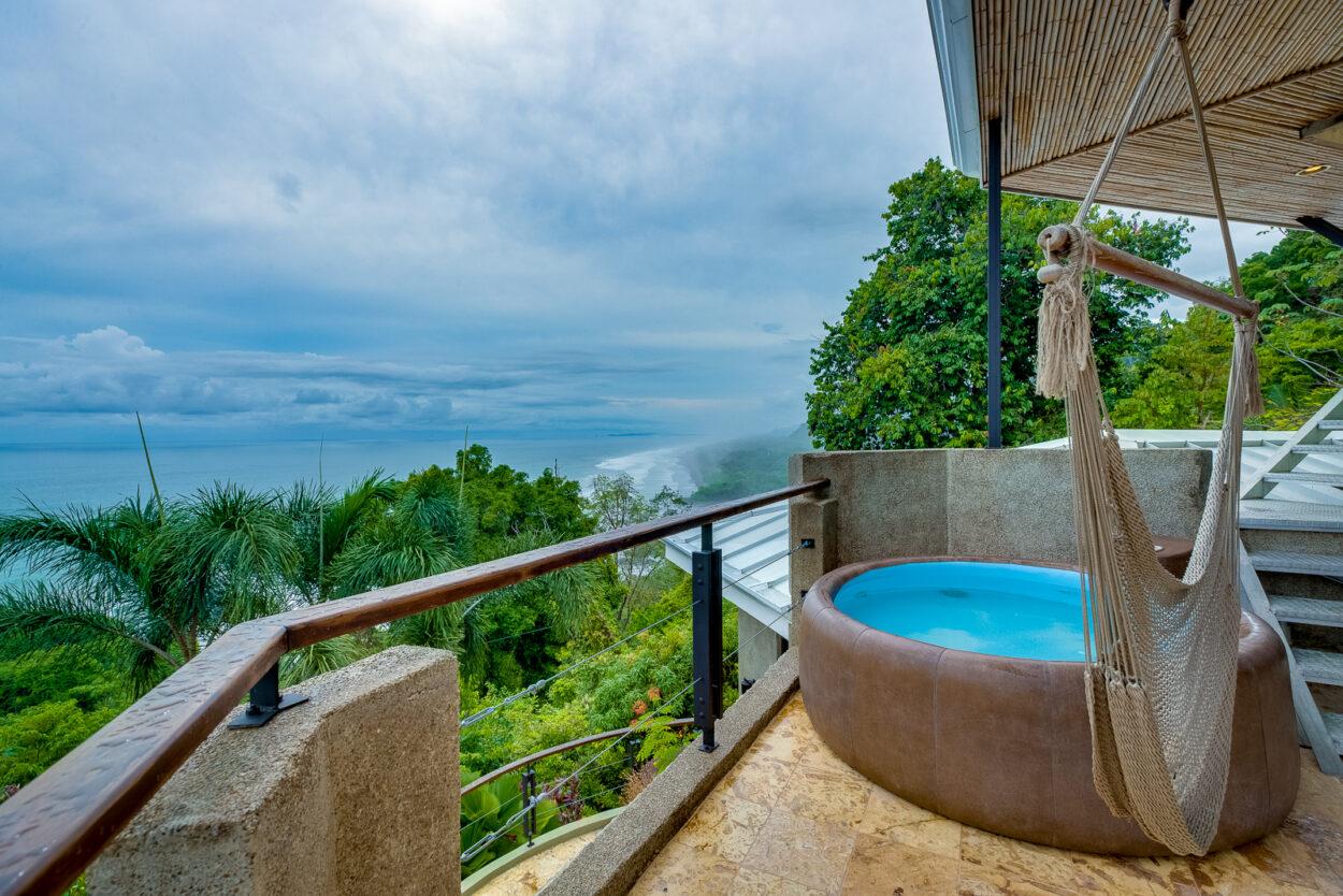 Penthouse hot tub