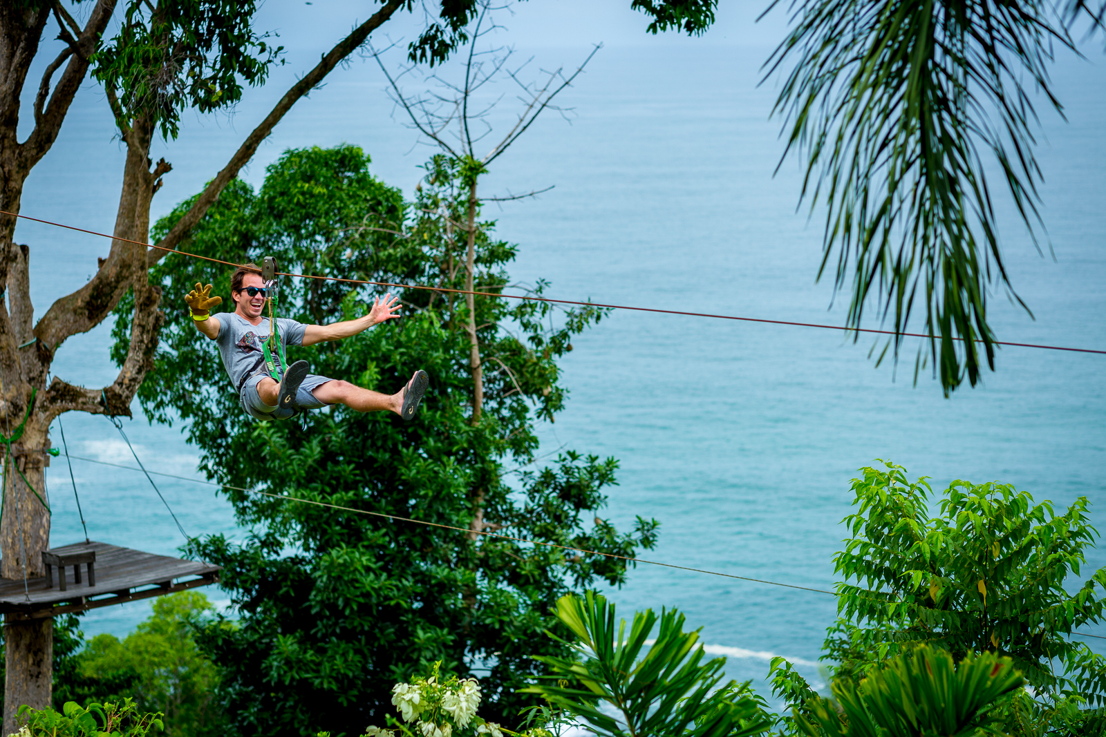 Zipline in the area